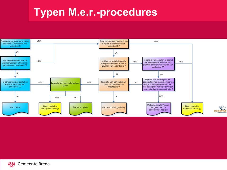 Typen M.e.r.-procedures