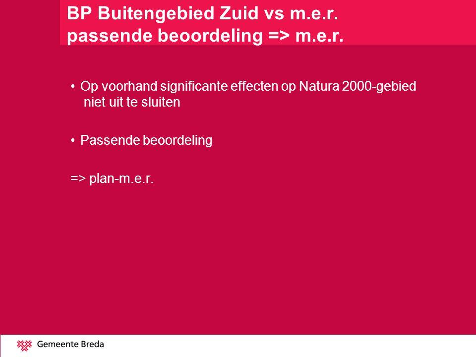BP Buitengebied Zuid vs m.e.r. passende beoordeling => m.e.r.