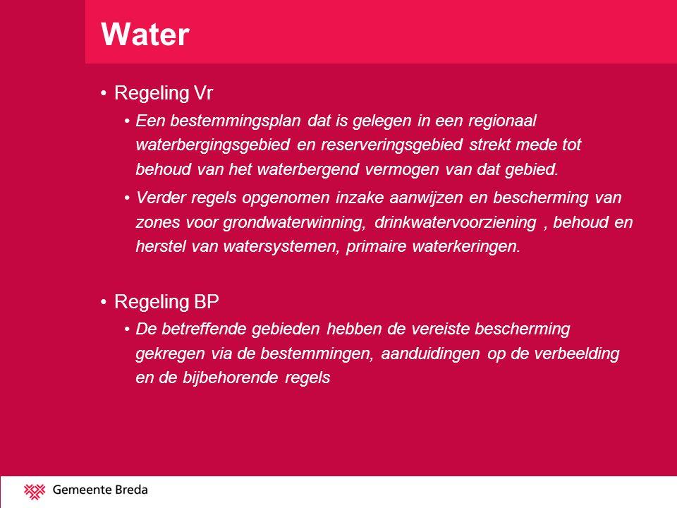 Water Regeling Vr Regeling BP