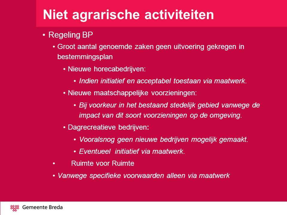 Niet agrarische activiteiten