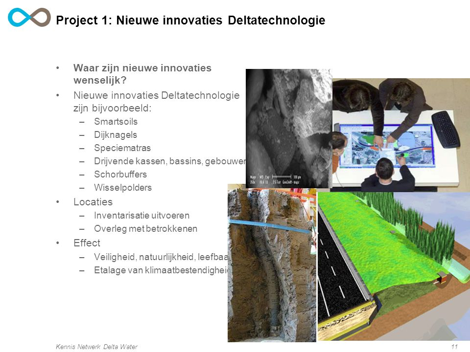 Project 1: Nieuwe innovaties Deltatechnologie
