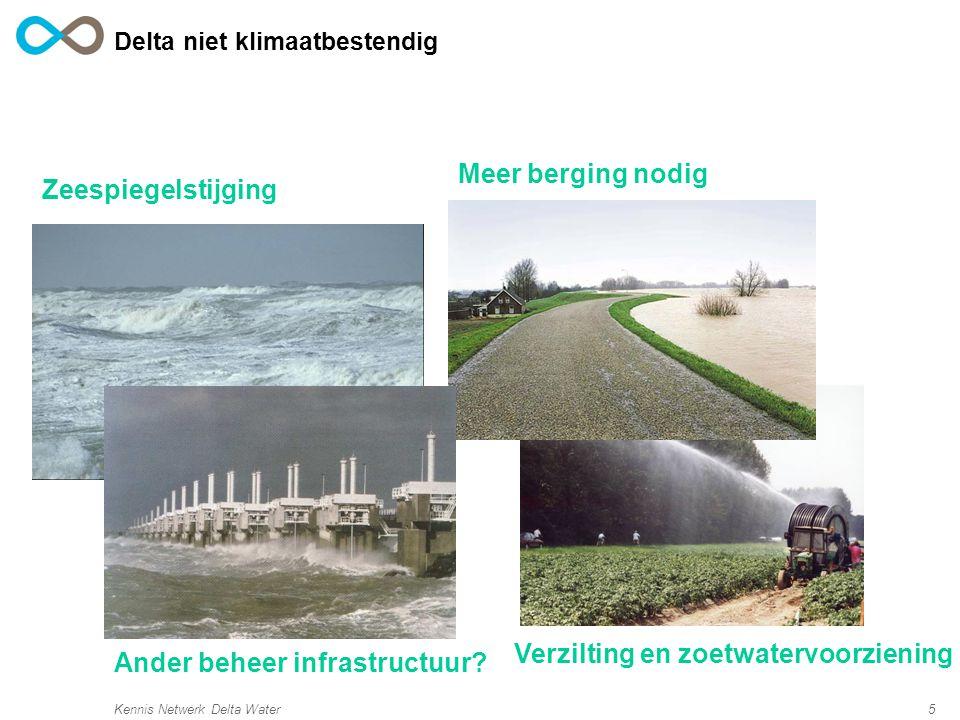 Delta niet klimaatbestendig