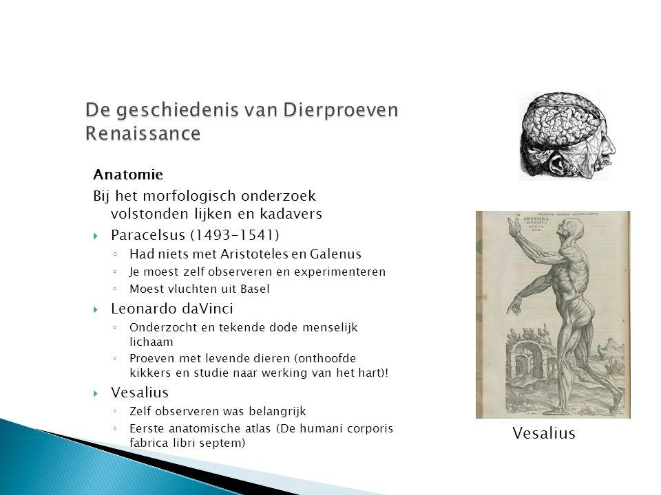 De geschiedenis van Dierproeven Renaissance