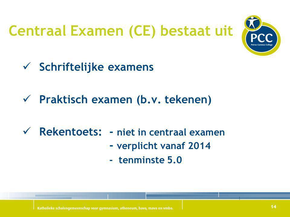 Centraal Examen (CE) bestaat uit