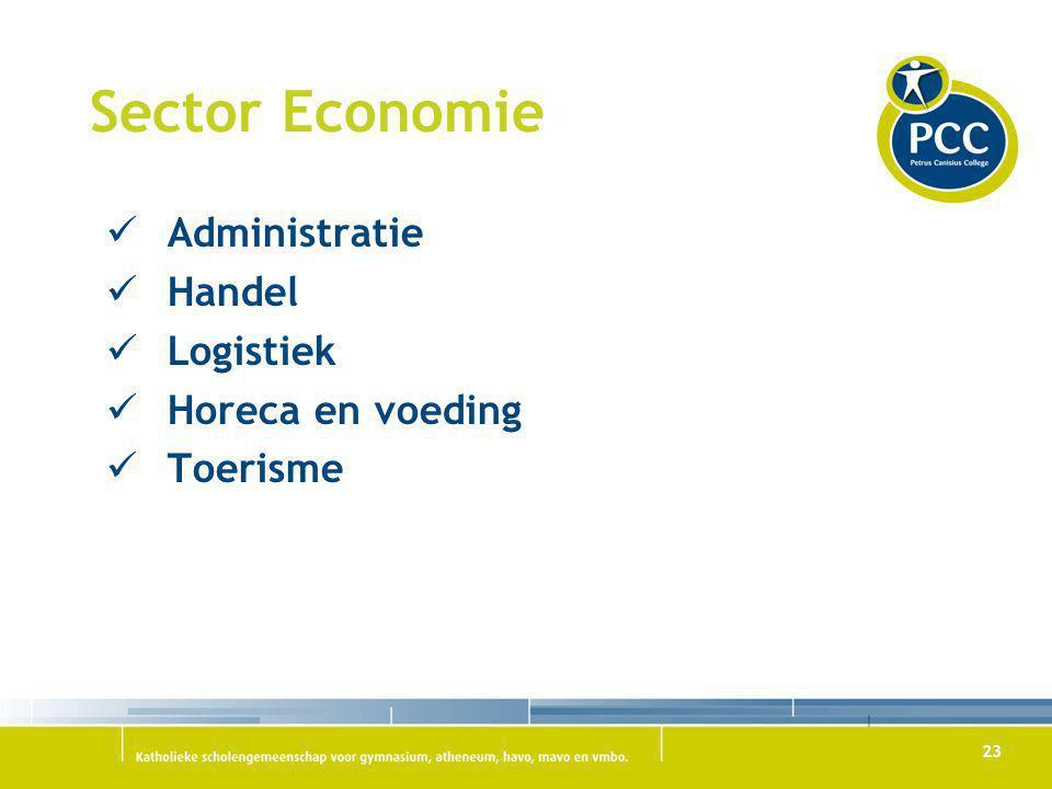 Sector Economie Administratie Handel Logistiek Horeca en voeding