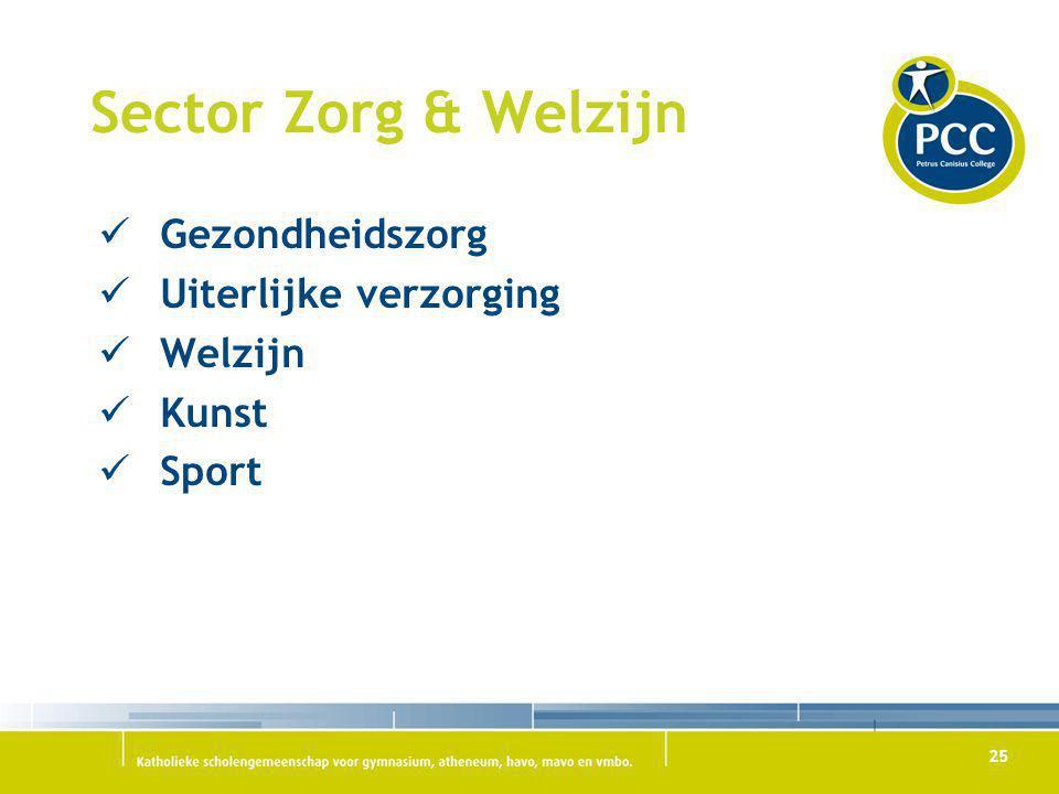 Sector Zorg & Welzijn Gezondheidszorg Uiterlijke verzorging Welzijn