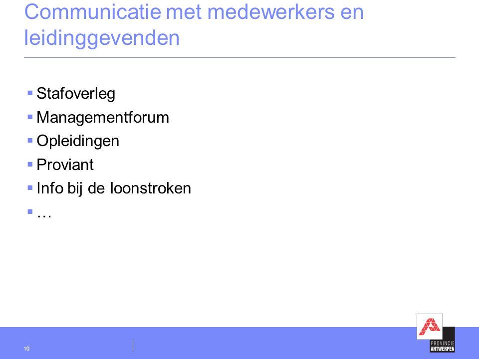 Communicatie met medewerkers en leidinggevenden