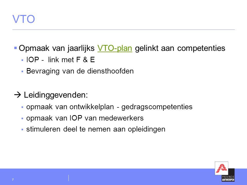 VTO Opmaak van jaarlijks VTO-plan gelinkt aan competenties