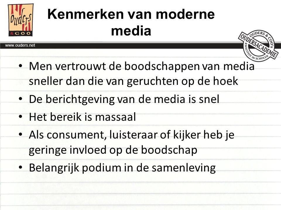 Kenmerken van moderne media