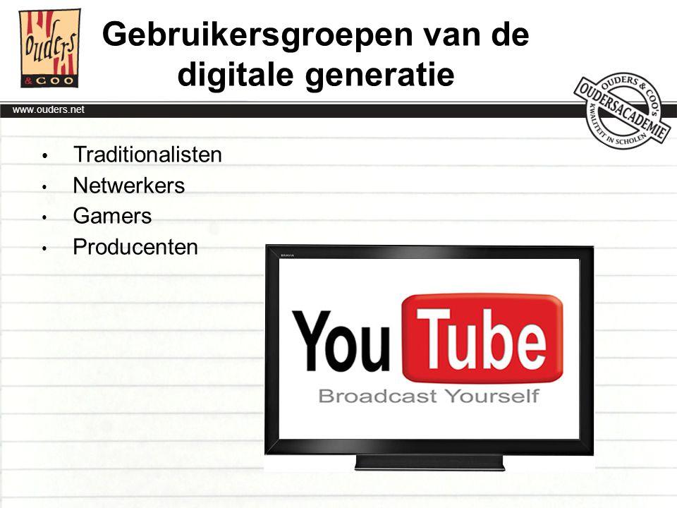Gebruikersgroepen van de digitale generatie