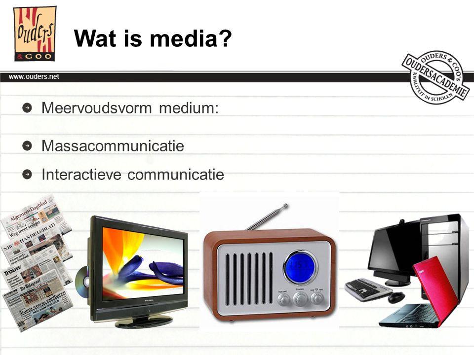Wat is media Meervoudsvorm medium: Massacommunicatie
