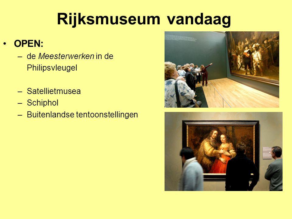 Rijksmuseum vandaag OPEN: de Meesterwerken in de Philipsvleugel