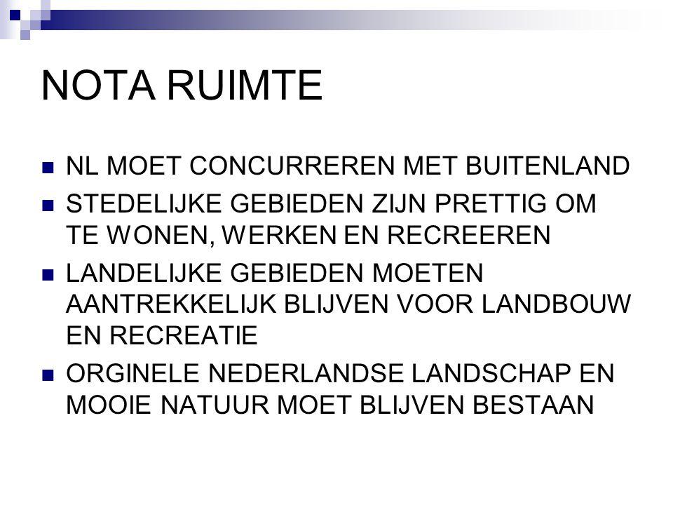 NOTA RUIMTE NL MOET CONCURREREN MET BUITENLAND