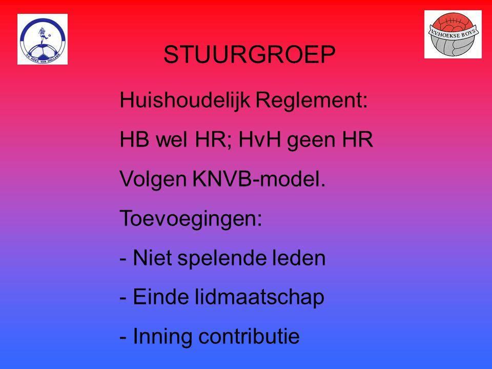 STUURGROEP Huishoudelijk Reglement: HB wel HR; HvH geen HR