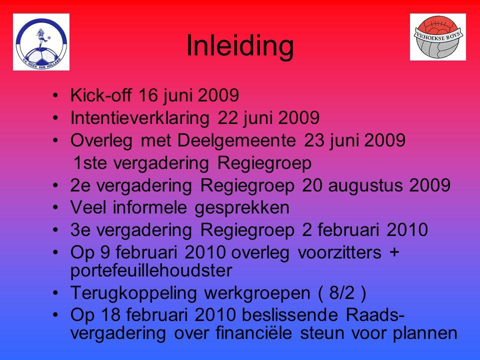 Inleiding Kick-off 16 juni 2009 Intentieverklaring 22 juni 2009