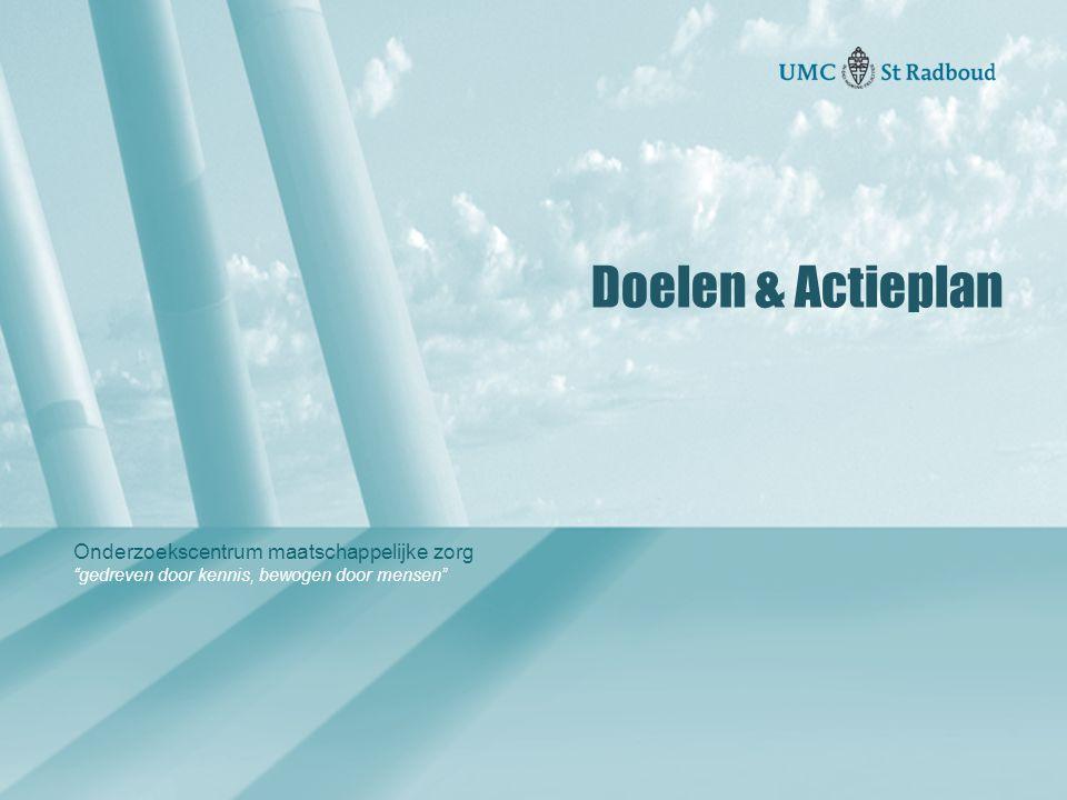 Doelen & Actieplan