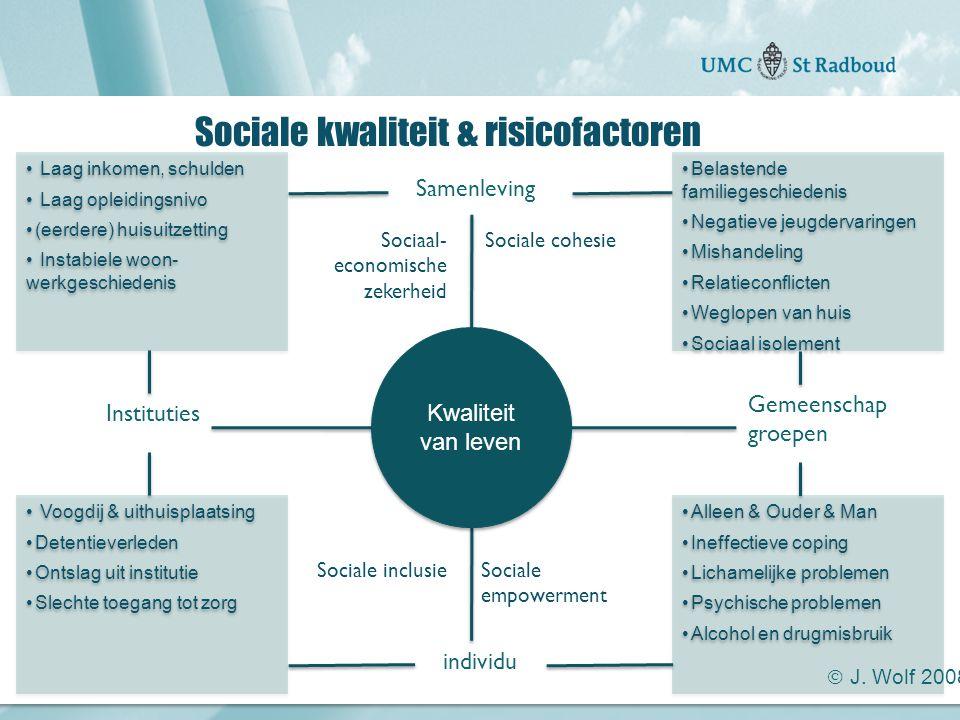 Sociale kwaliteit & risicofactoren