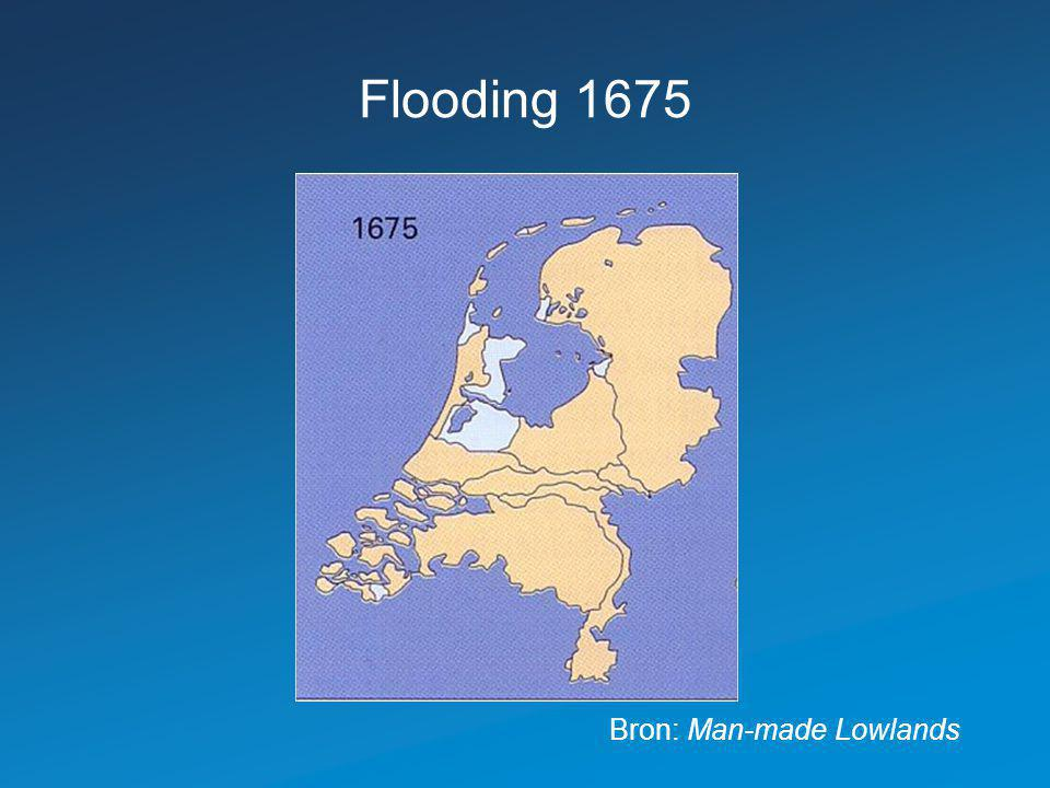 Flooding 1675 Bron: Man-made Lowlands 11