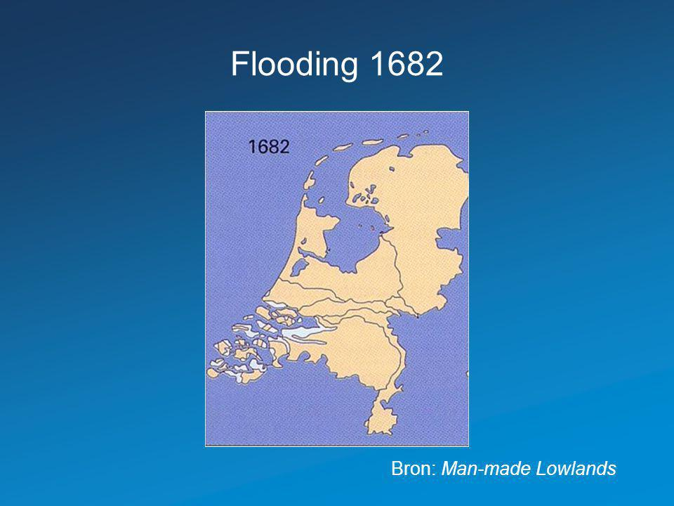 Flooding 1682 Bron: Man-made Lowlands