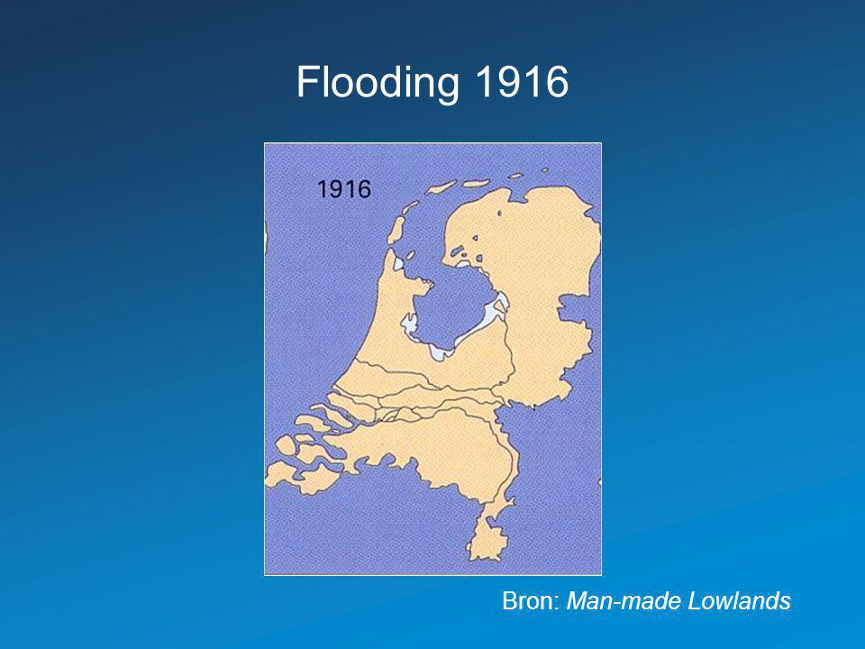 Flooding 1916 Bron: Man-made Lowlands