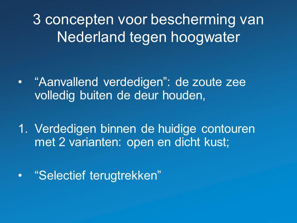 3 concepten voor bescherming van Nederland tegen hoogwater