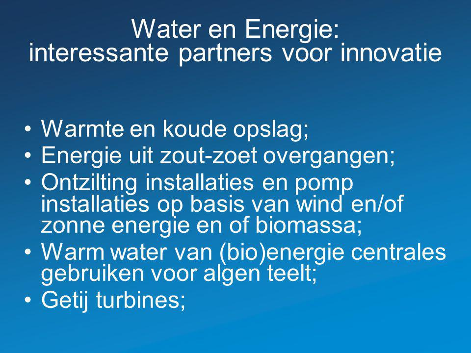 Water en Energie: interessante partners voor innovatie
