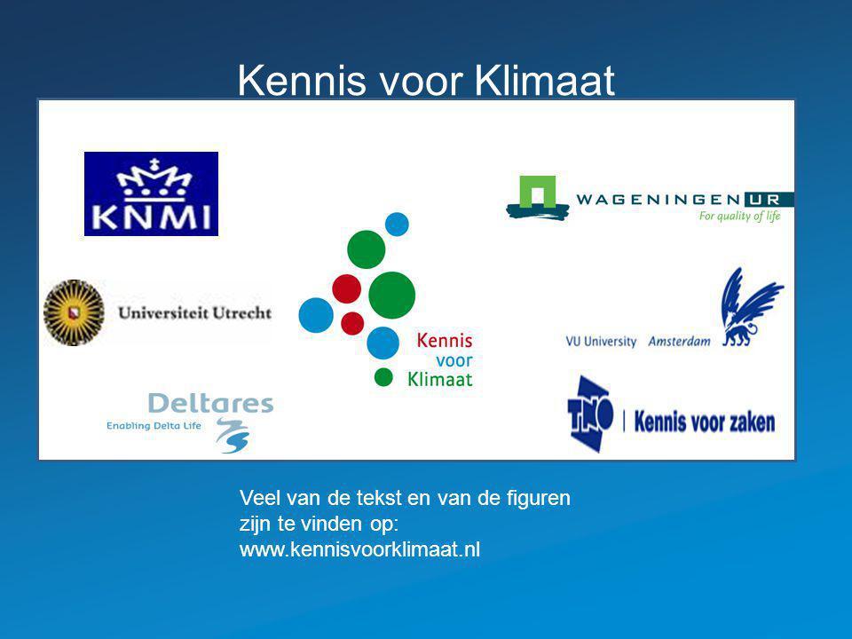 Kennis voor Klimaat www en logo kleiner. Veel van de tekst en van de figuren zijn te vinden op: www.kennisvoorklimaat.nl.