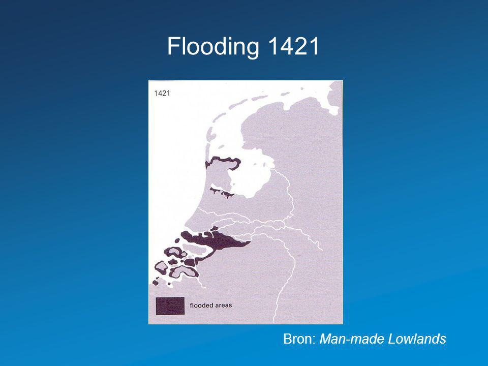 Flooding 1421 Bron: Man-made Lowlands