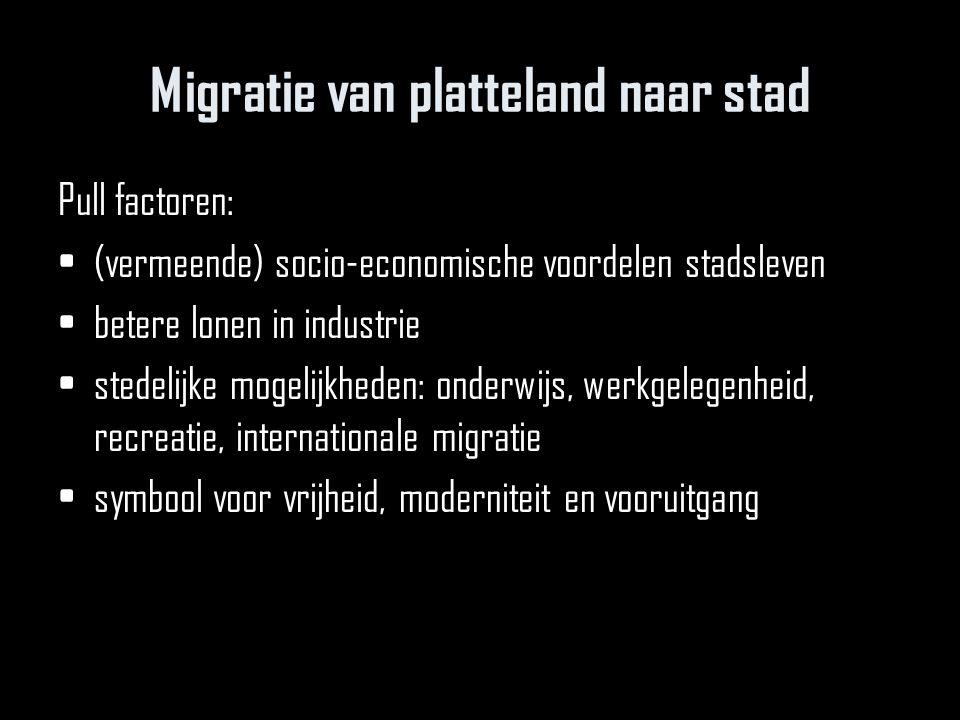 Migratie van platteland naar stad