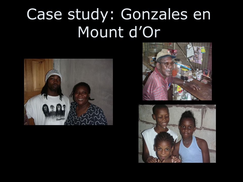 Case study: Gonzales en Mount d'Or