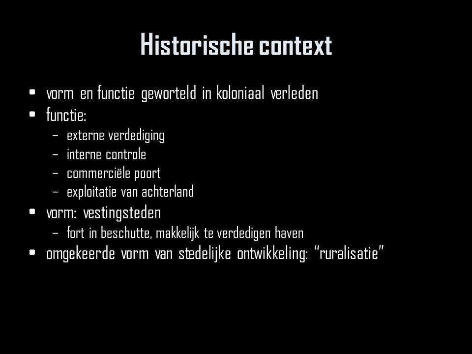 Historische context vorm en functie geworteld in koloniaal verleden