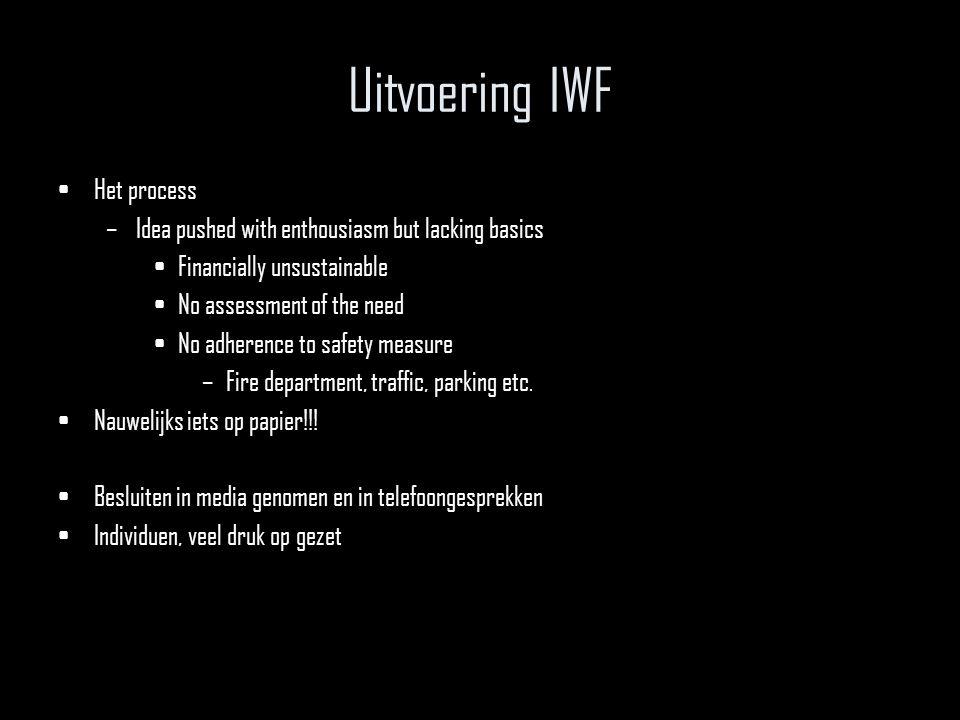 Uitvoering IWF Het process
