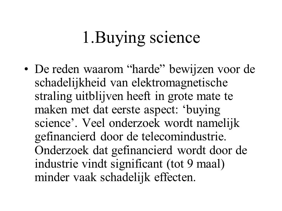 1.Buying science
