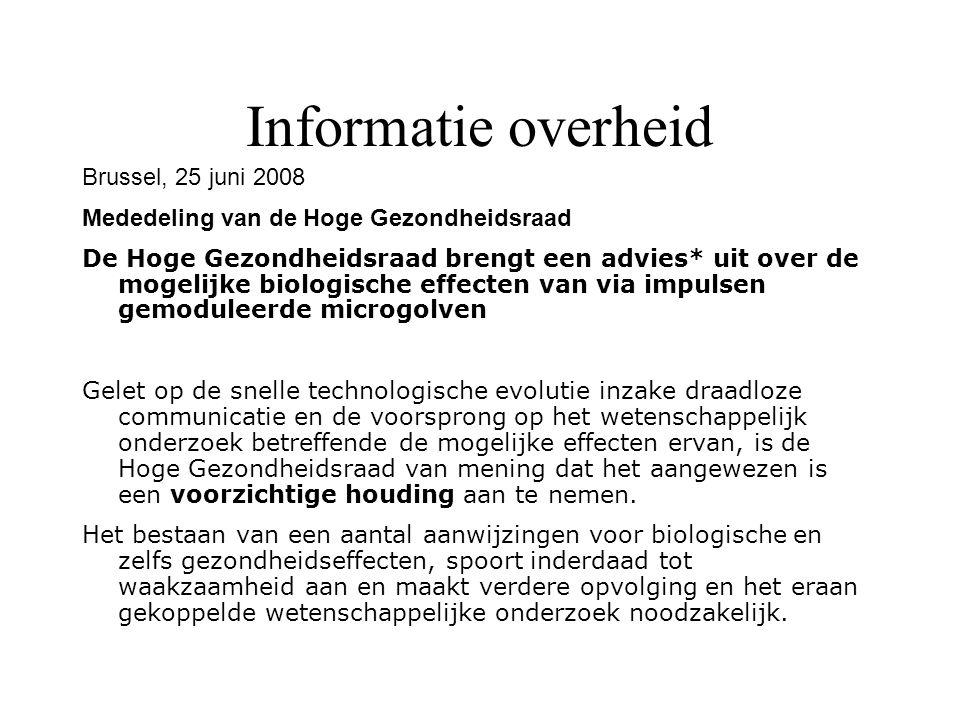 Informatie overheid Brussel, 25 juni 2008