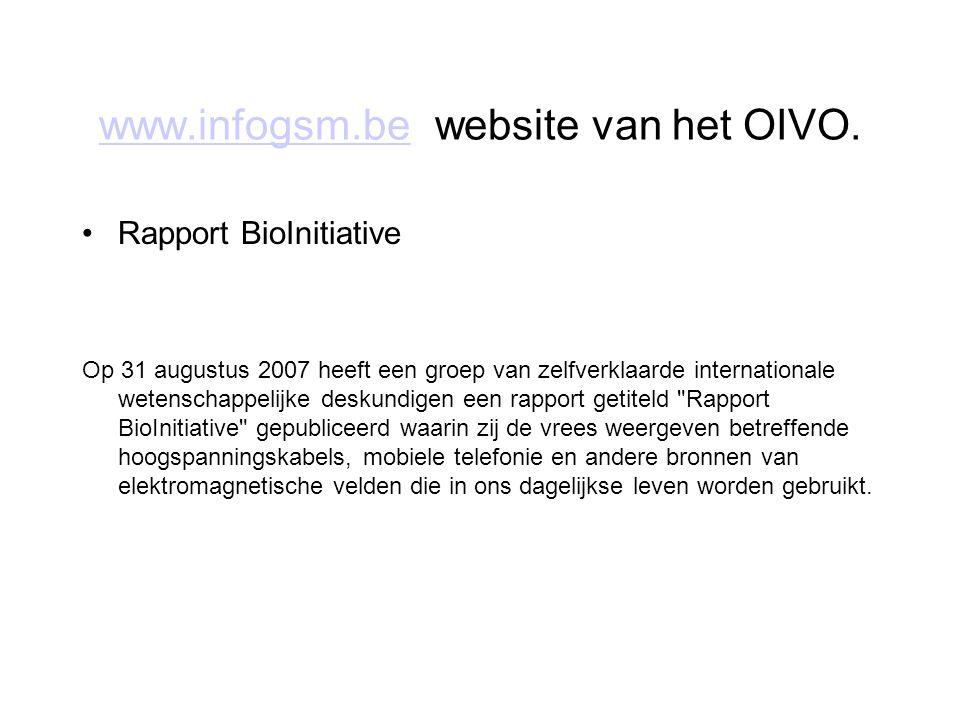 www.infogsm.be website van het OIVO.