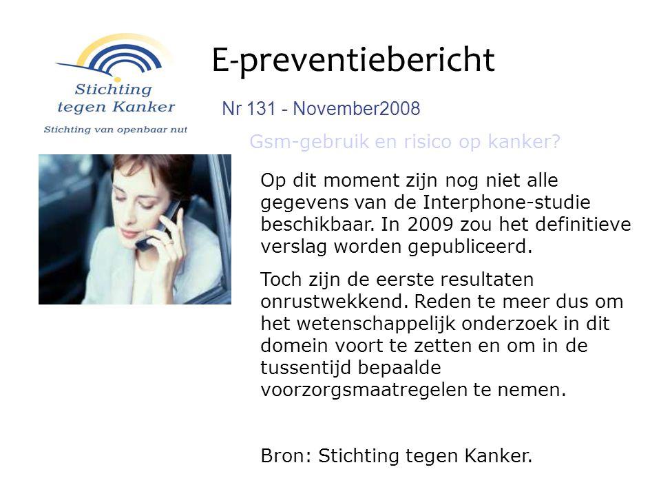 E-preventiebericht Nr 131 - November2008