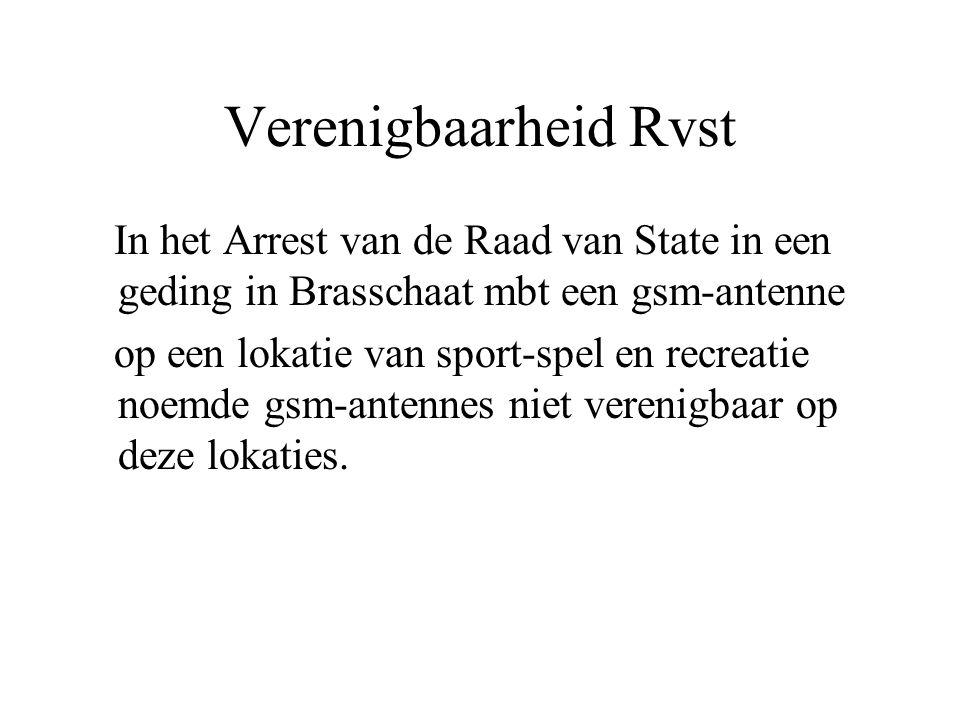 Verenigbaarheid Rvst In het Arrest van de Raad van State in een geding in Brasschaat mbt een gsm-antenne.