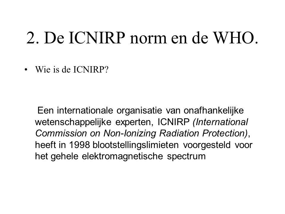 2. De ICNIRP norm en de WHO. Wie is de ICNIRP
