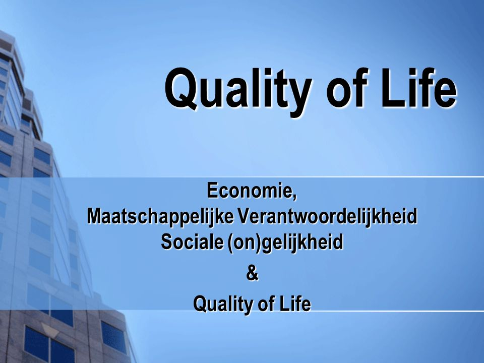 Economie, Maatschappelijke Verantwoordelijkheid Sociale (on)gelijkheid