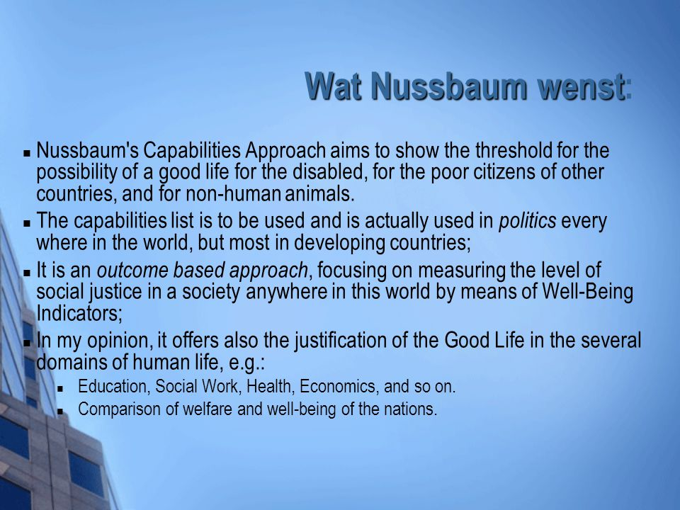 Wat Nussbaum wenst: