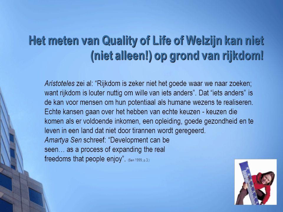Het meten van Quality of Life of Welzijn kan niet (niet alleen