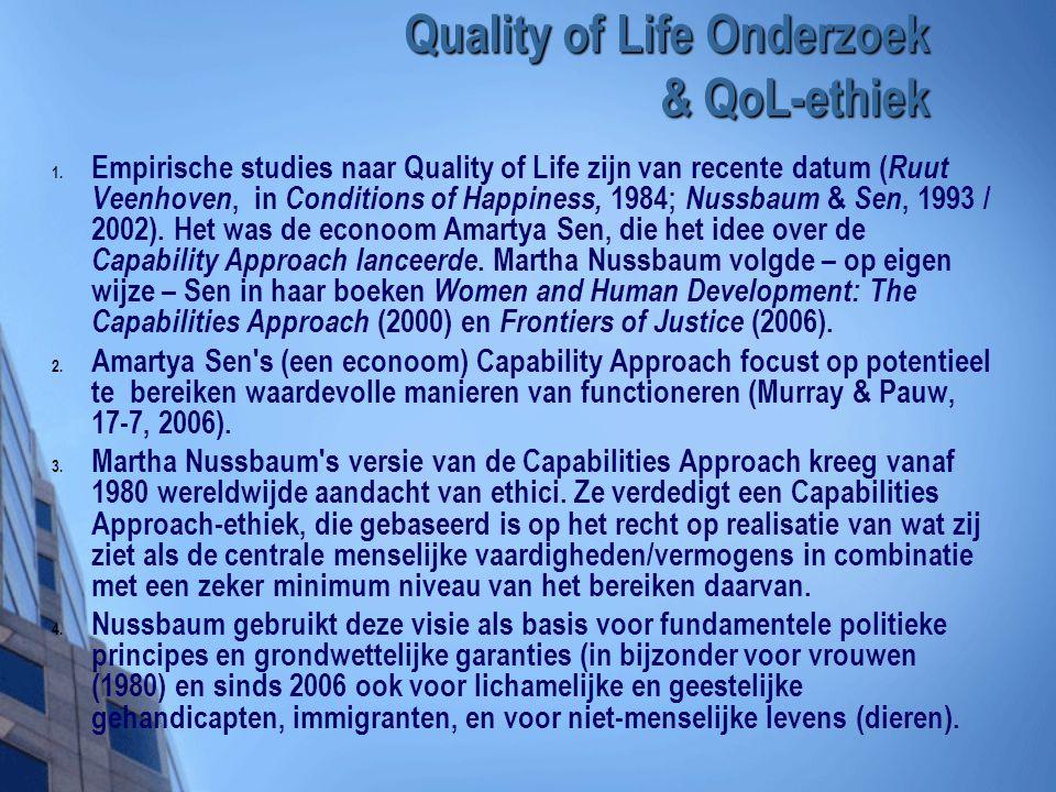 Quality of Life Onderzoek & QoL-ethiek