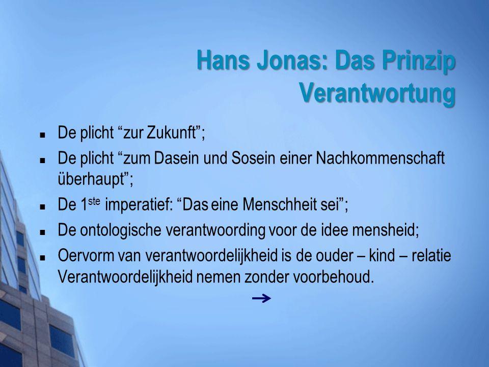 Hans Jonas: Das Prinzip Verantwortung