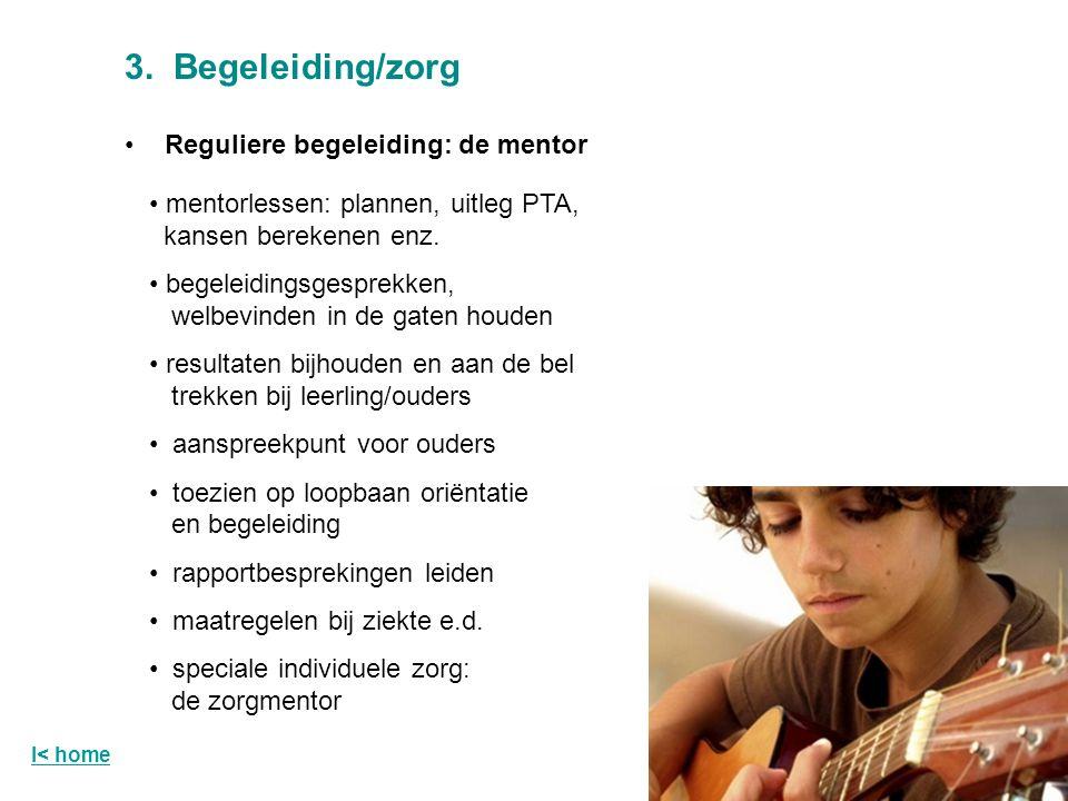 3. Begeleiding/zorg Reguliere begeleiding: de mentor