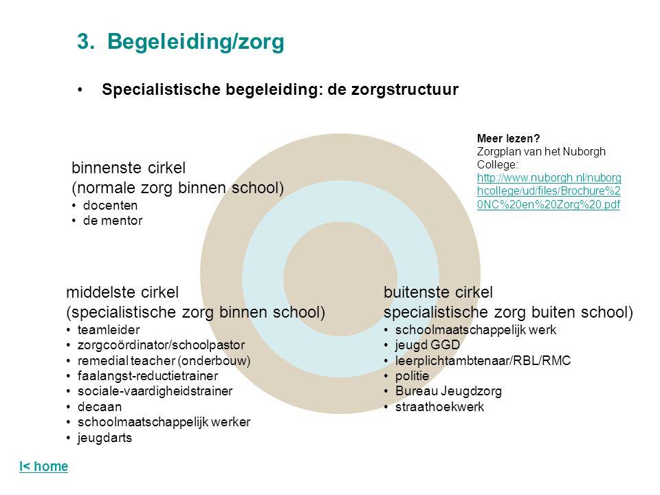 3. Begeleiding/zorg Specialistische begeleiding: de zorgstructuur