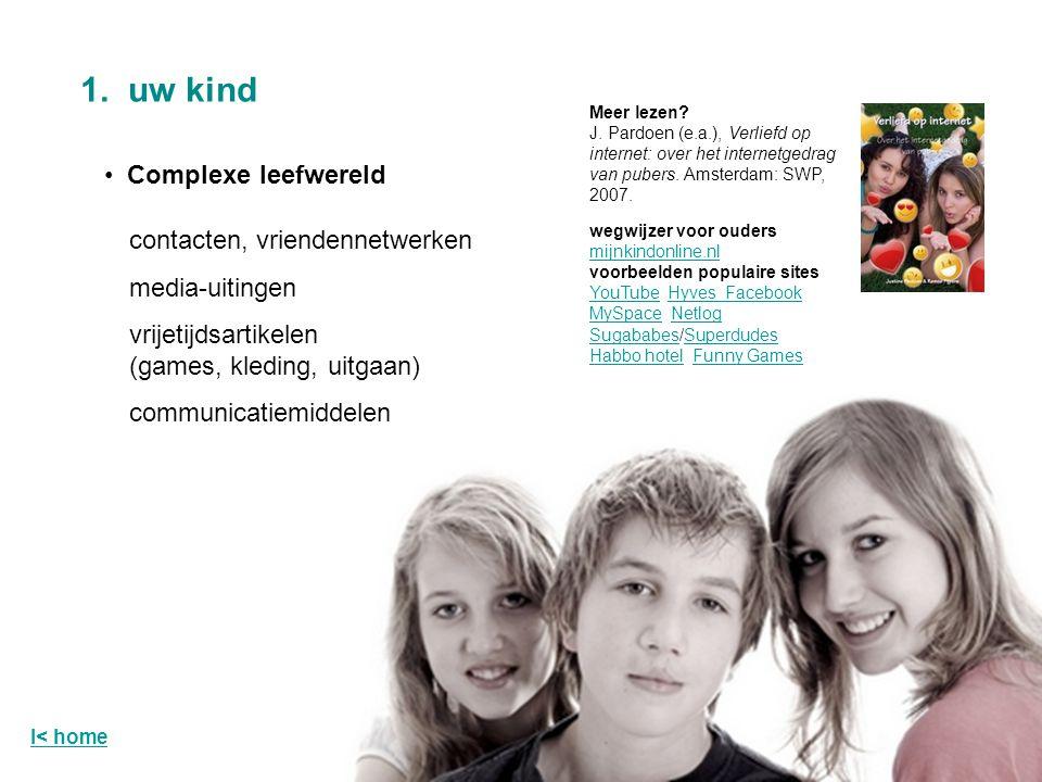 1. uw kind Complexe leefwereld contacten, vriendennetwerken
