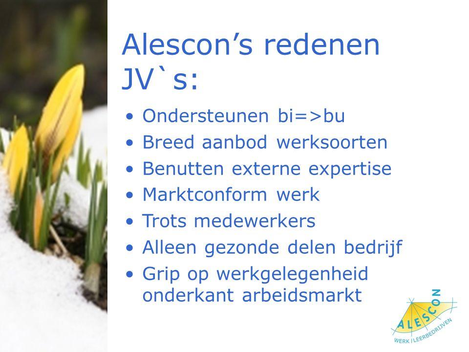Alescon's redenen JV`s: