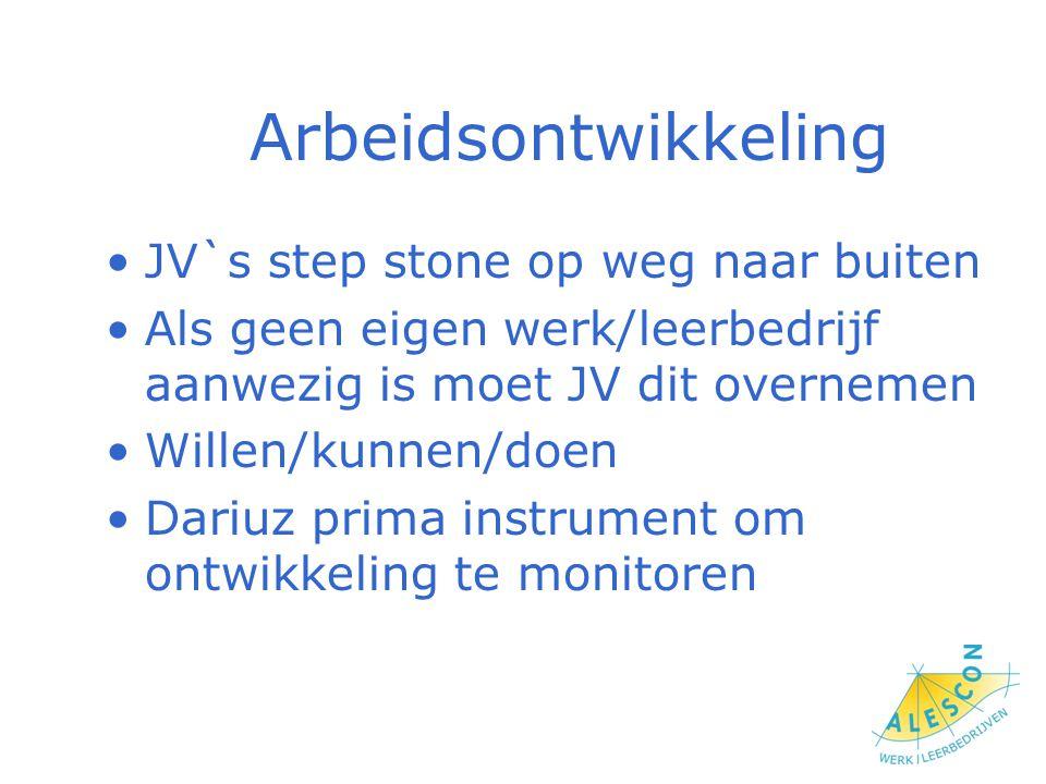 Arbeidsontwikkeling JV`s step stone op weg naar buiten