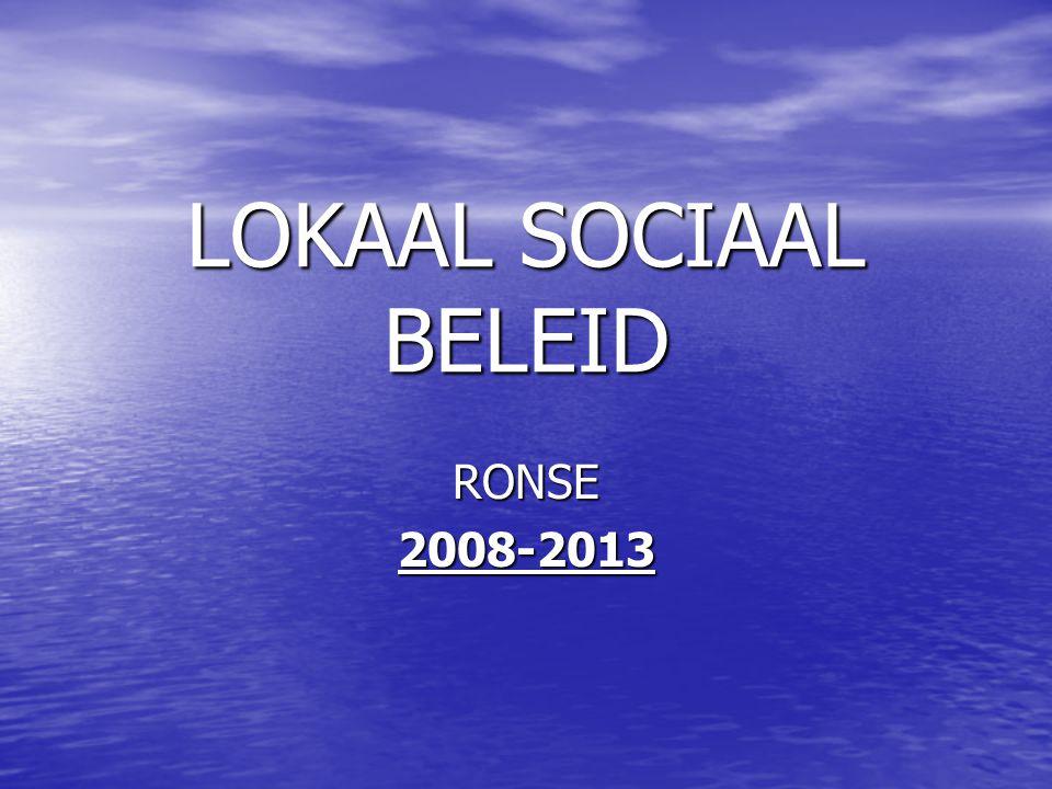 LOKAAL SOCIAAL BELEID RONSE 2008-2013
