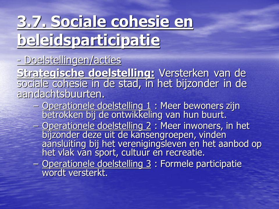3.7. Sociale cohesie en beleidsparticipatie